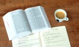 book, coffee & notes