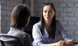 2 people meeting